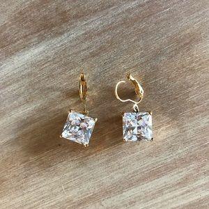 Betsey Johnson Diamond Dangle Earrings